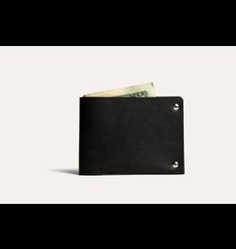Kiko Leather Kiko Unstitched Billfold Wallet - Black
