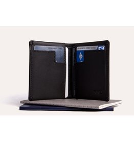 Kiko Leather Slim Bifold Wallet in Black