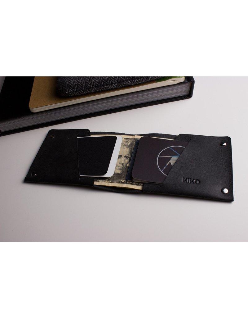 Kiko Unstitched Billfold Wallet -Black