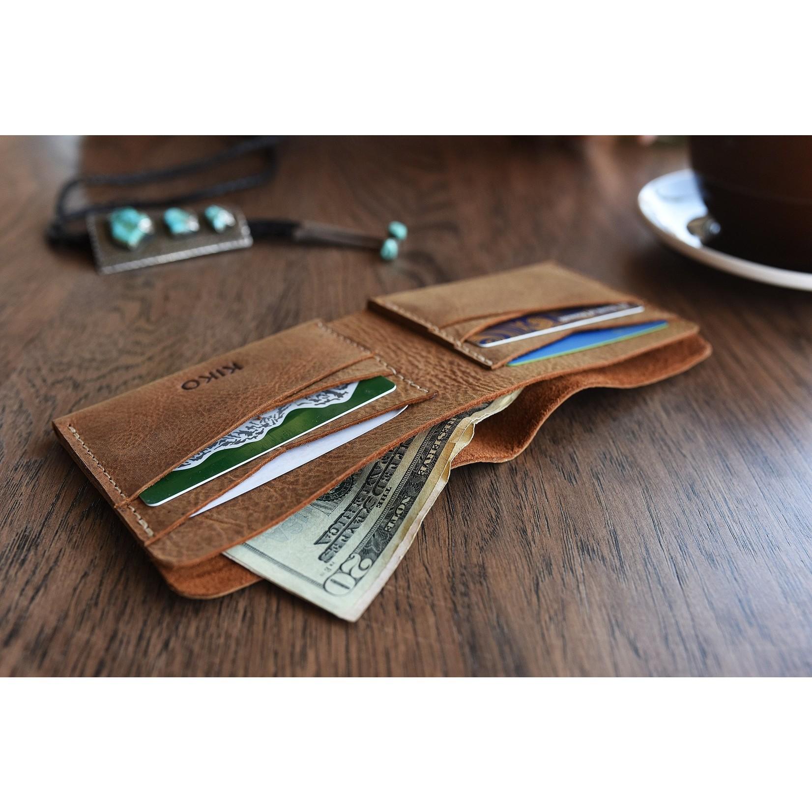 Kiko Leather Buck Bifold Wallet