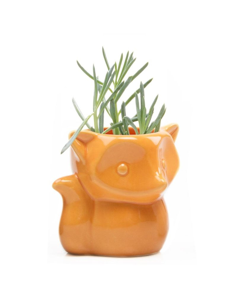 Chive Fox Planter in Orange