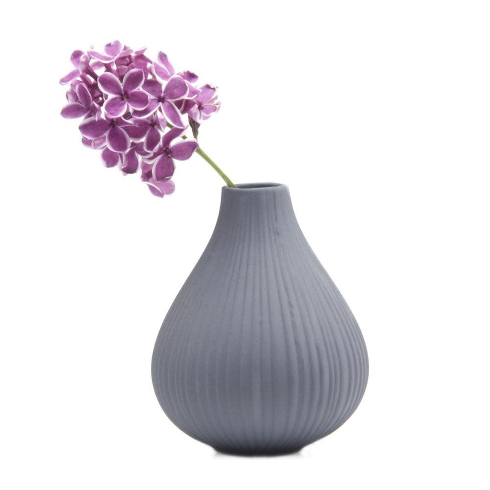 Chive Frost Vase in Grey