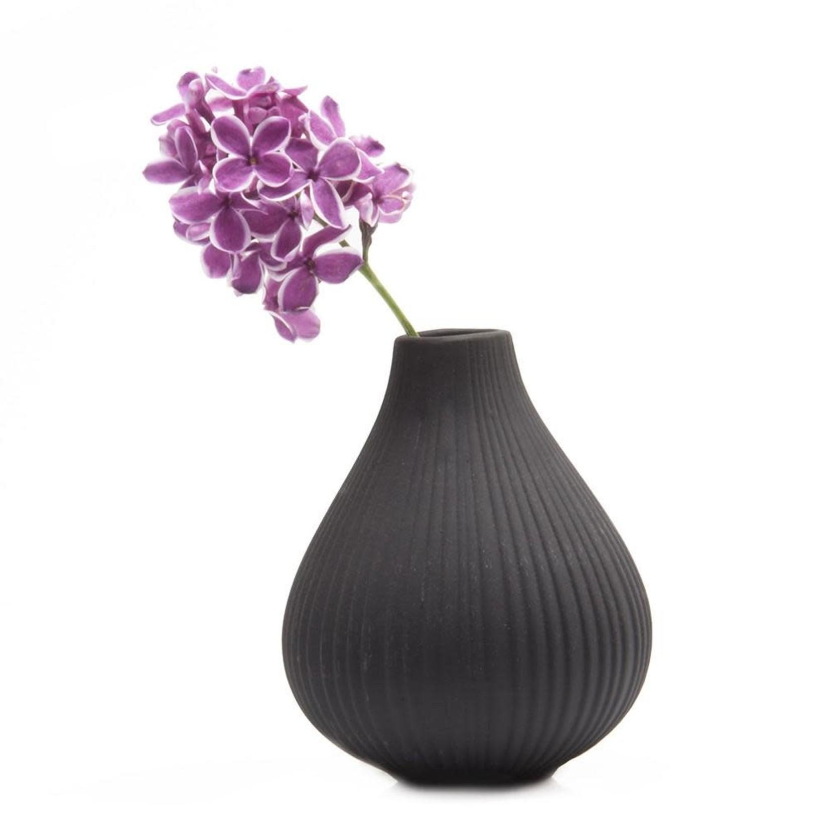 Chive Frost Vase in Black