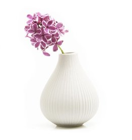 Chive Frost Vase in White
