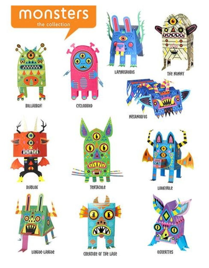 Galactic Sneeze LLC Paper Toys Pop Out Monsters