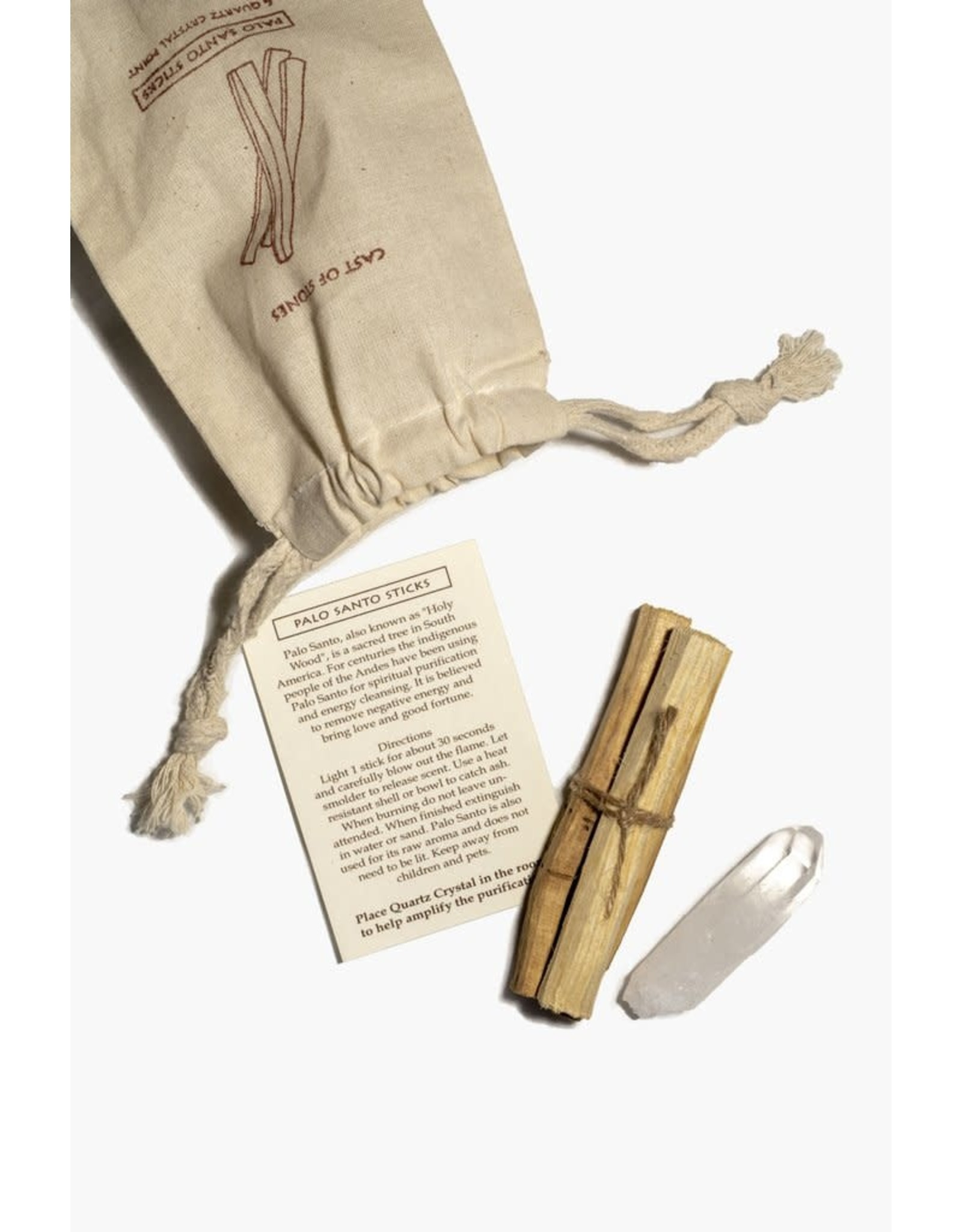 Cast Of Stones Palo Santo Sticks and Crystal Pouch