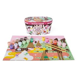 Kid Made Modern Ice Cream Paint By Letter Puzzle