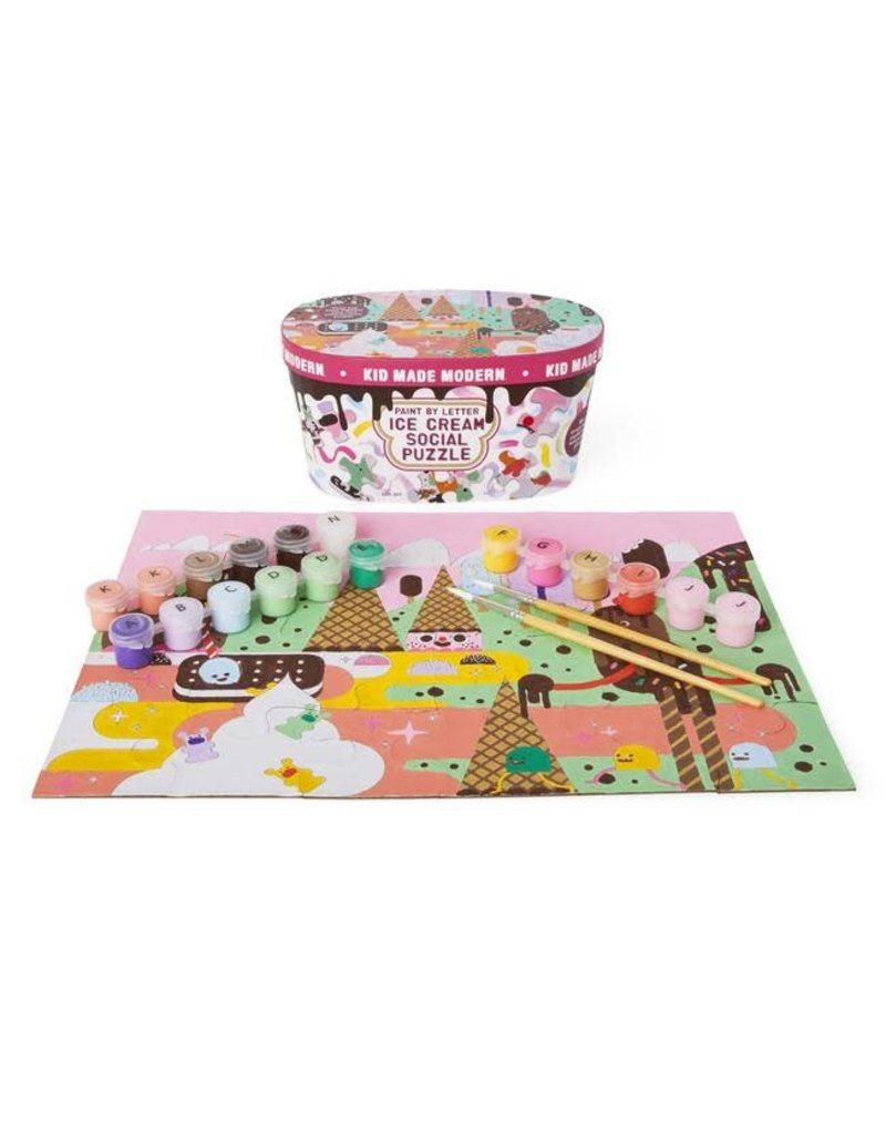 Ice Cream Paint By Letters Puzzle