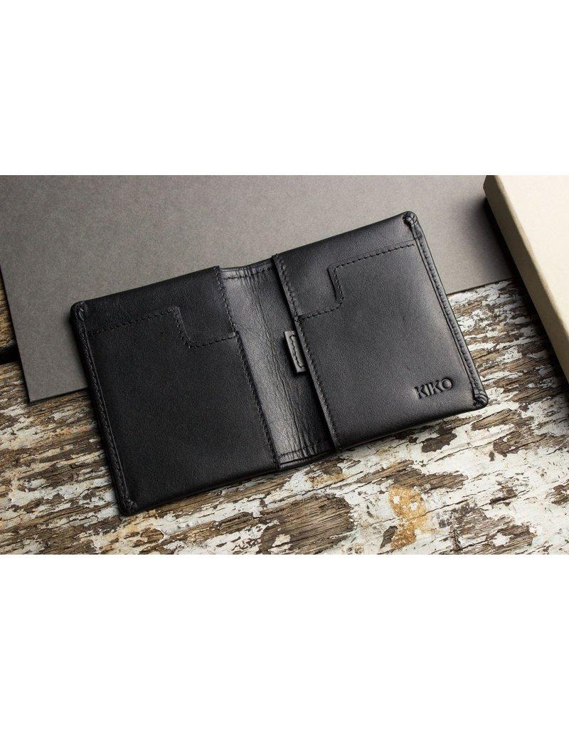 Kiko Leather Slim Bifold Wallet in Black