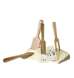 Twine Acacia Wood Cheese Knife Set