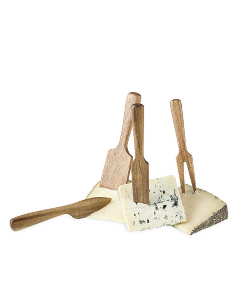 Twine Acacia Wood Cheese Knife Set