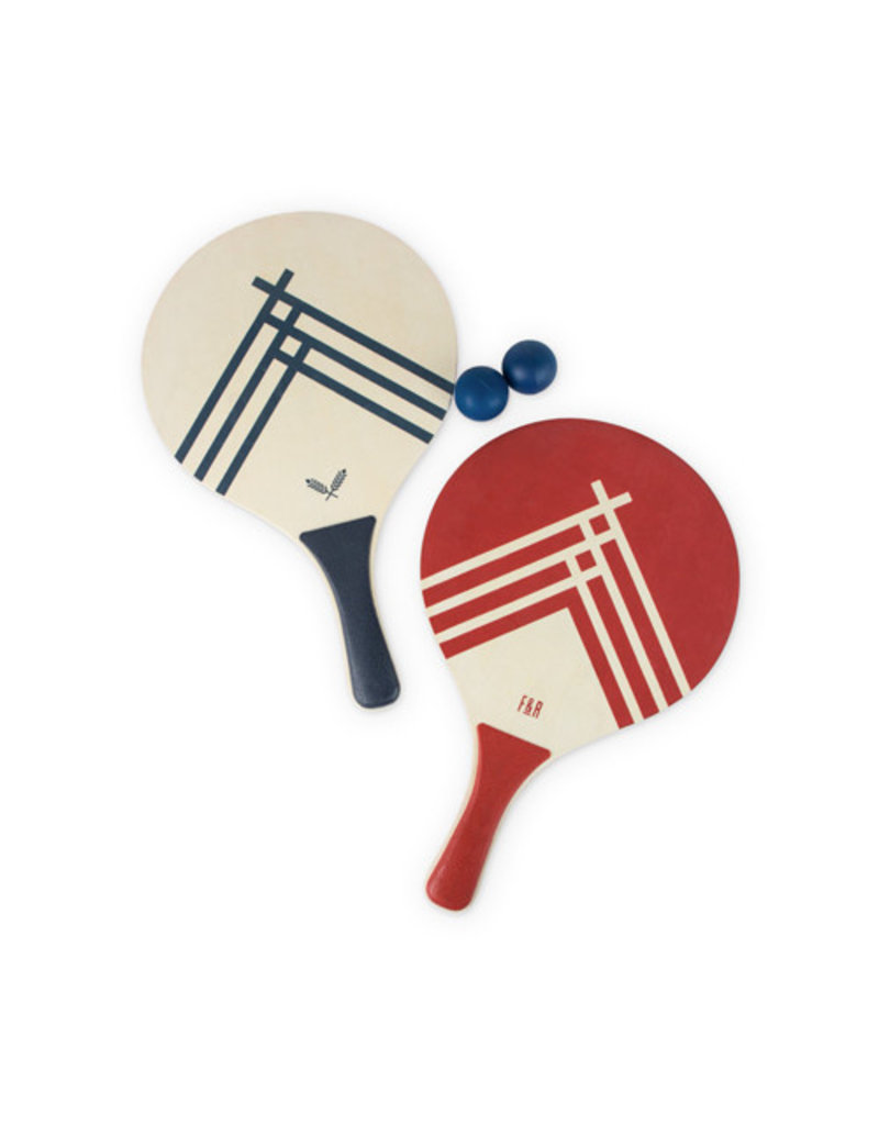 True Fabrications Beach Tennis Paddle Set by Foster & Rye