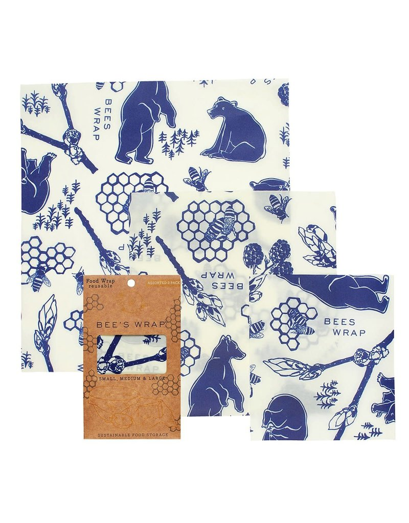 3 Pack Assorted Wraps - Bees & Bears