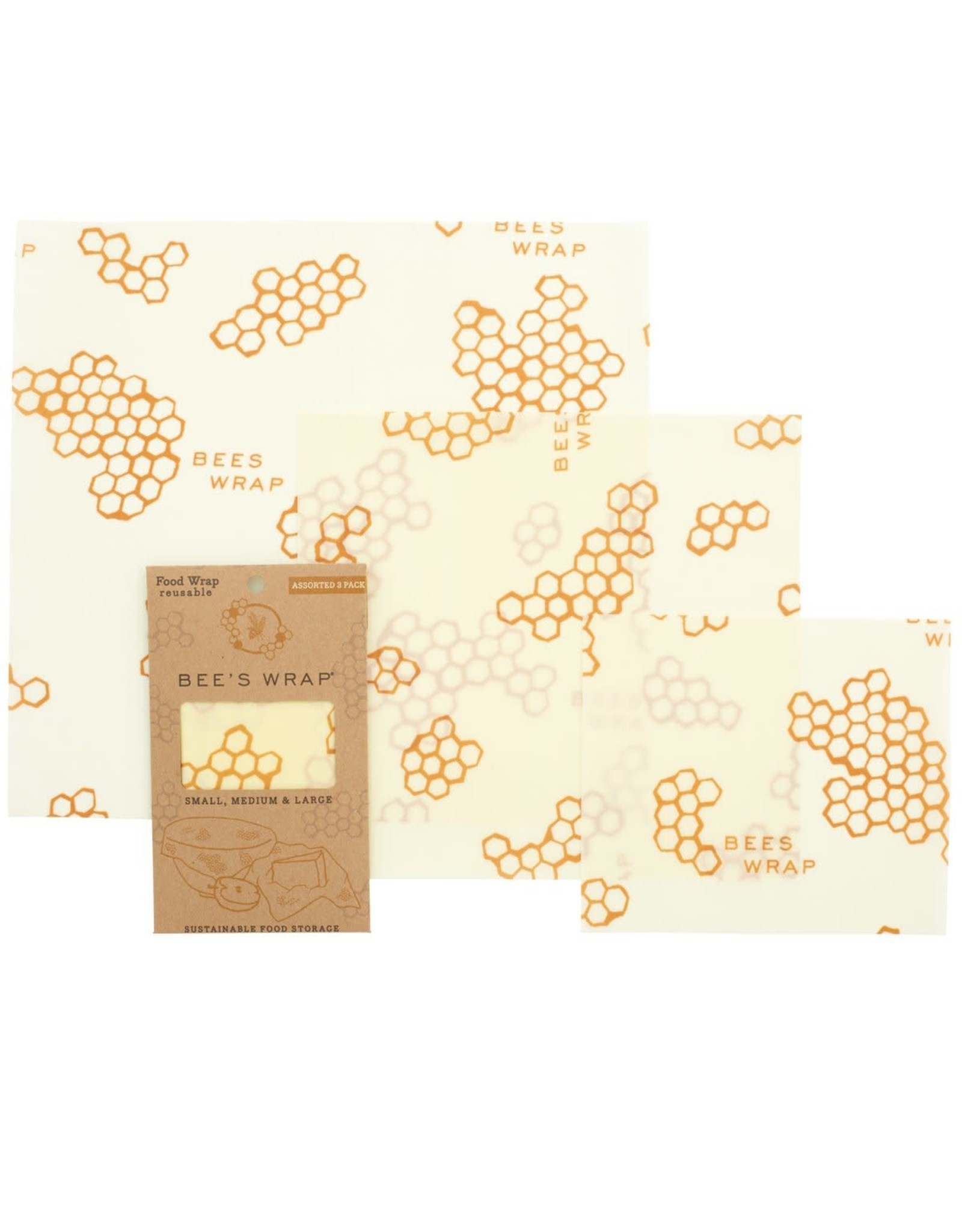 Bees Wrap 3 Pack Assorted Wraps - Honeycomb