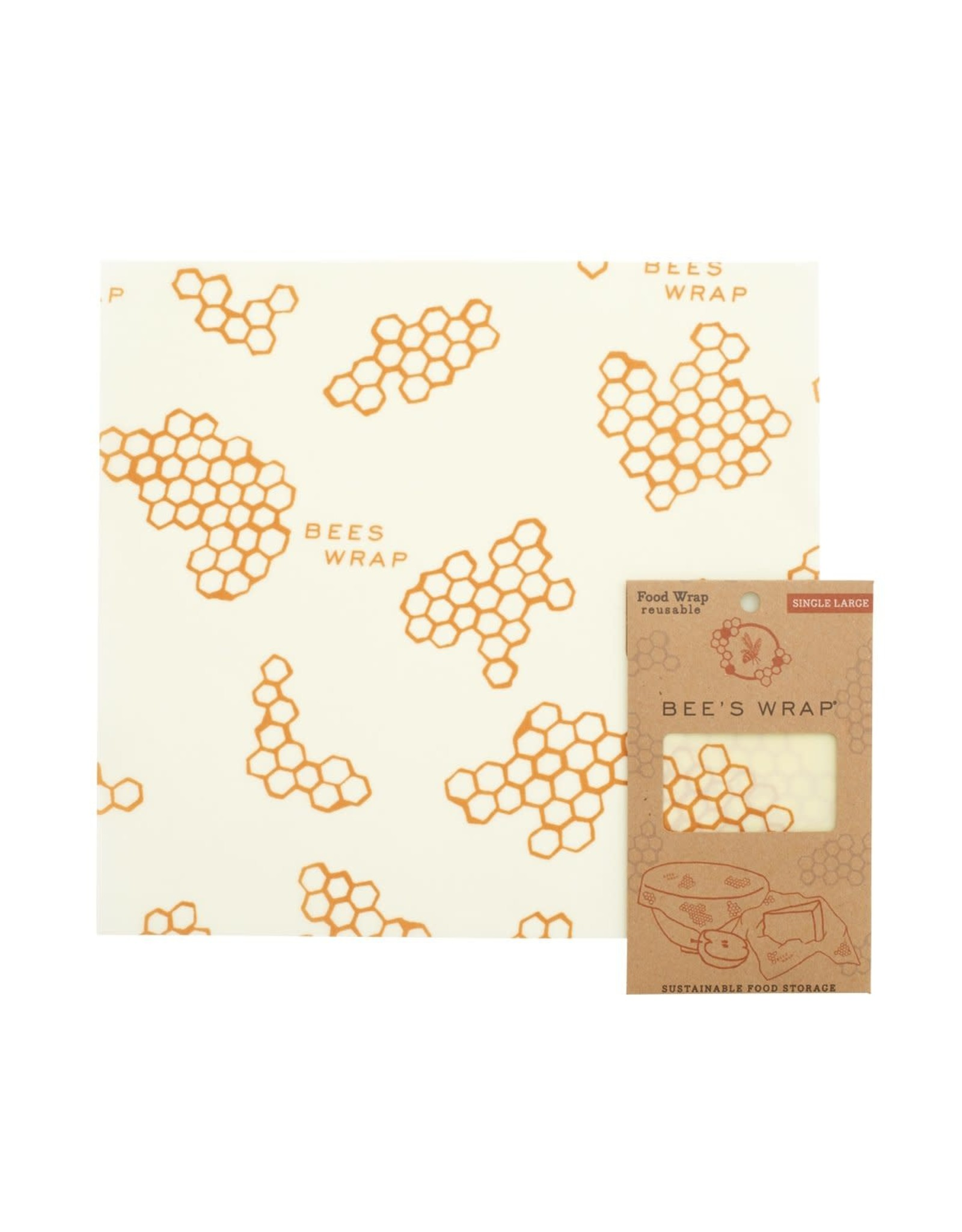 Bees Wrap Single Large Wrap - Honeycomb