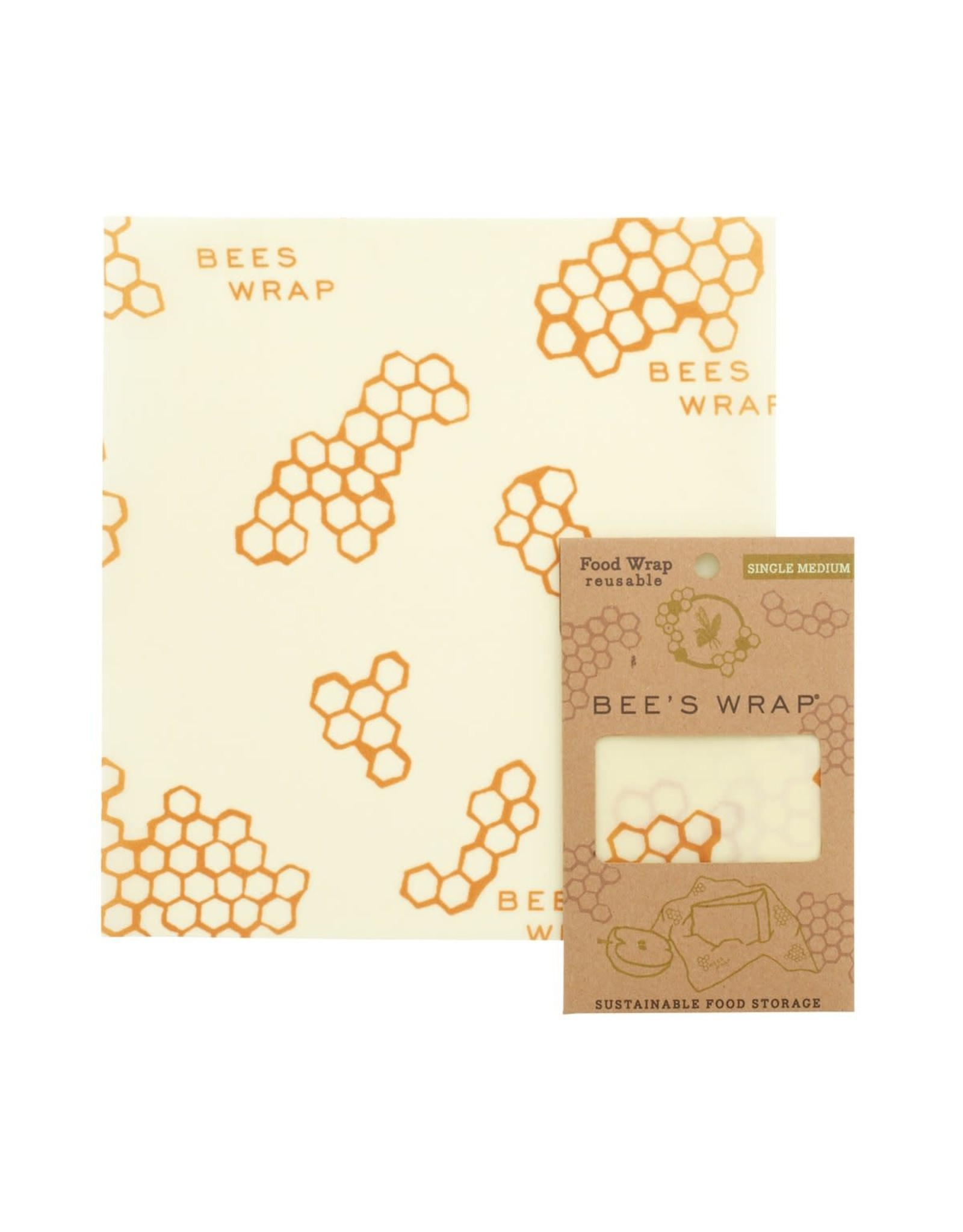 Bees Wrap Single Medium Wrap - Honeycomb