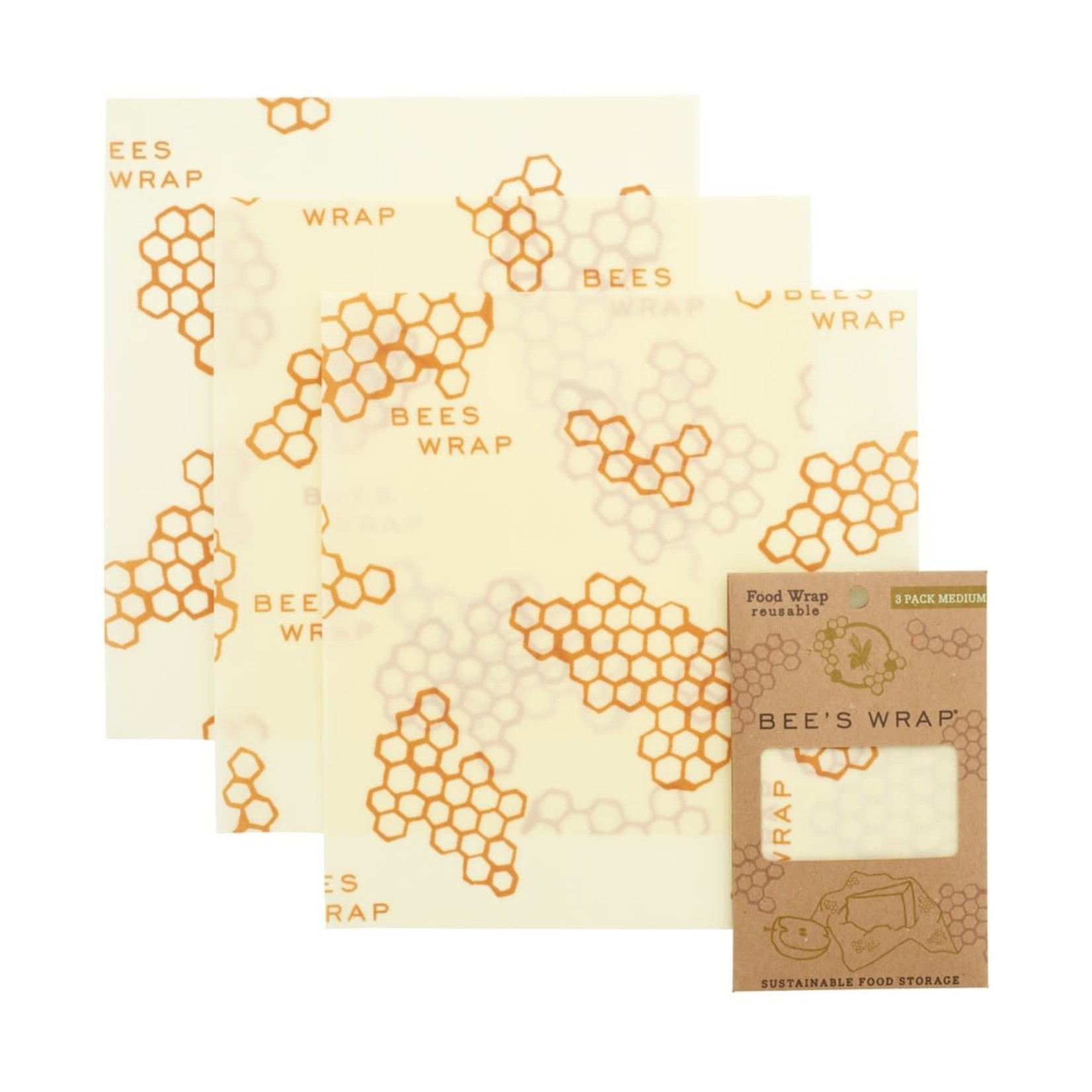 Bees Wrap Bees Wrap Medium 3 Pack in Honeycomb