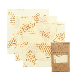 Bees Wrap 3 pack Medium Wraps - Honeycomb