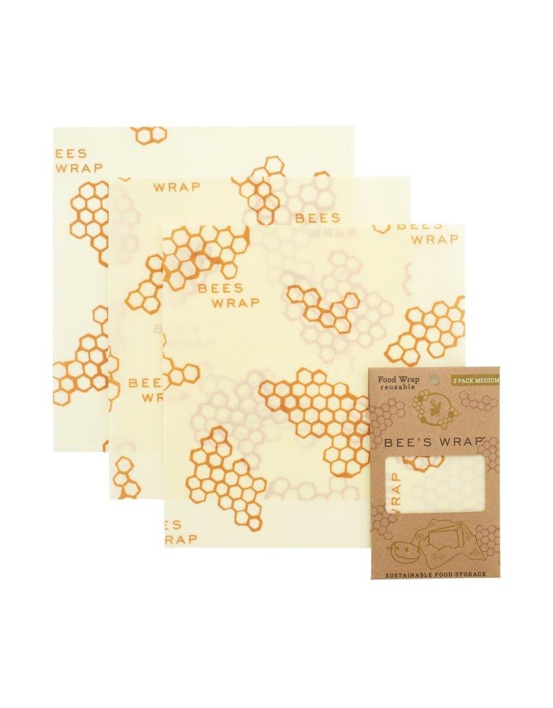 Bees Wrap 3 pack Medium Wraps - Honeycomb
