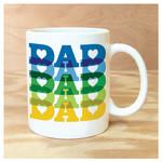 Rock Scissor Paper Dad Dad Dad Mug