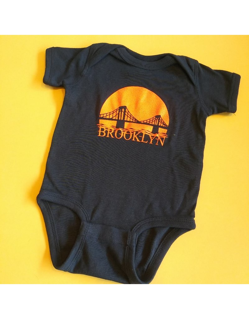 Exit9 Gift Emporium Brooklyn Bridge Sunset Onesie