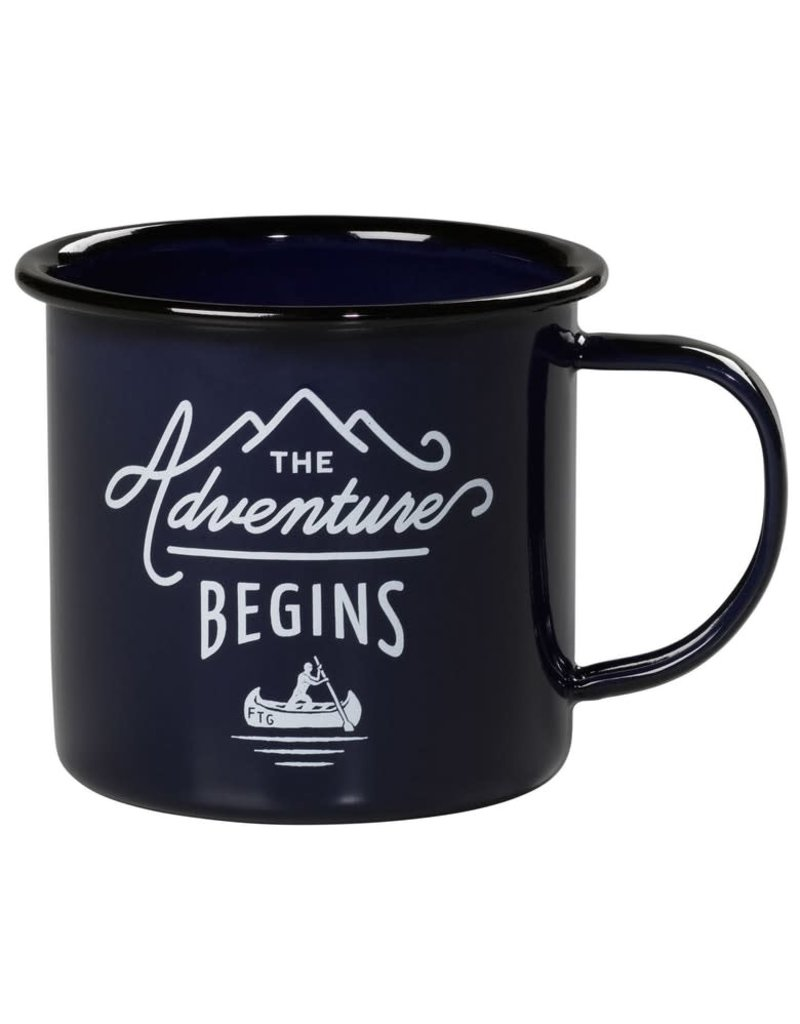 "Gentleman's Hardware ""Adventure Begins"" Enamel Mug"
