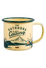 "Gentleman's Hardware ""Outdoors is Calling"" Enamel Mug"
