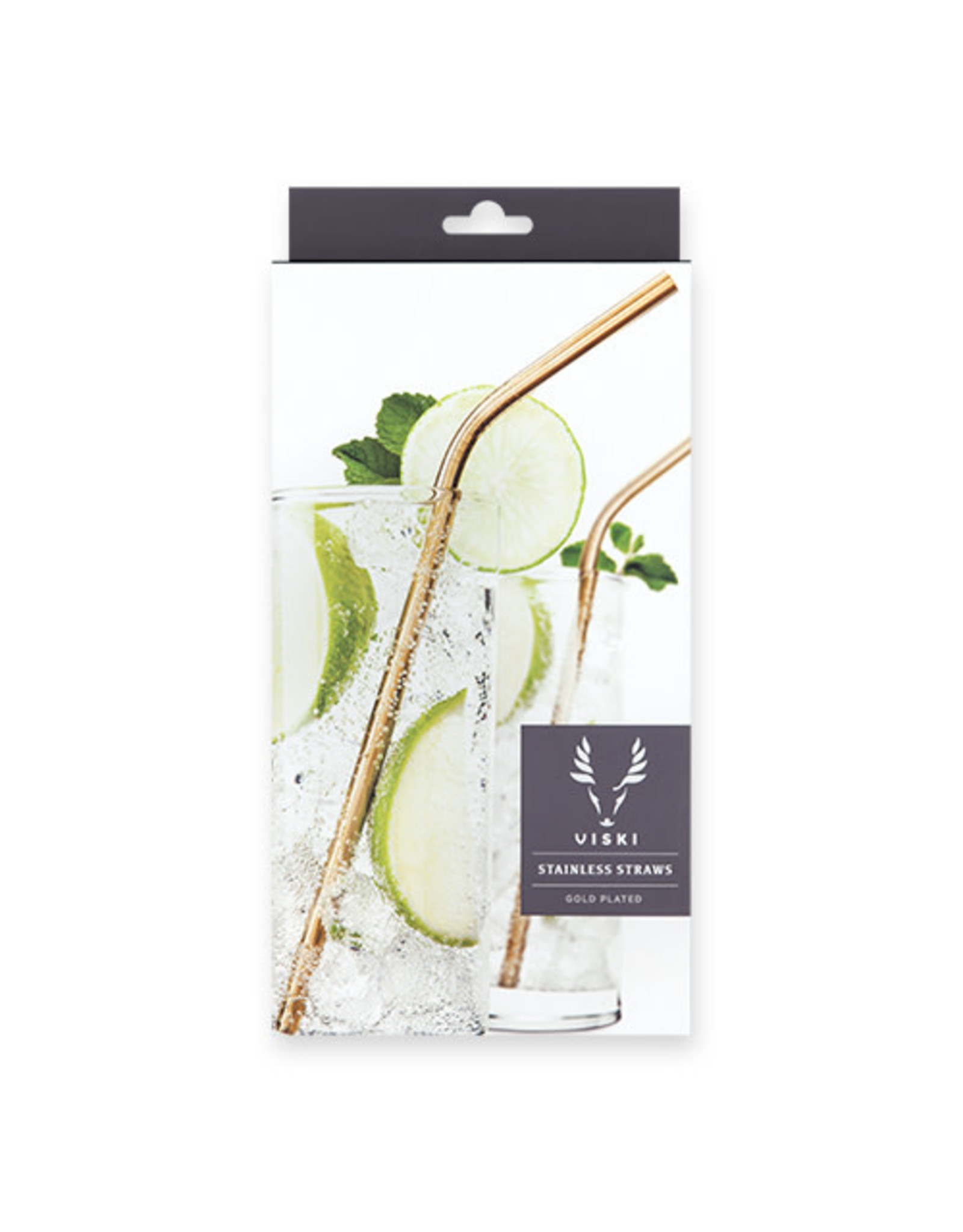 Viski Belmont Gold Cocktail Straws
