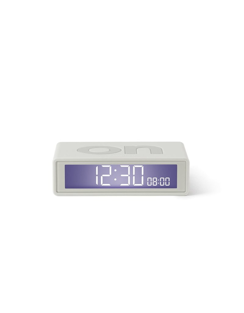 Lexon Travel Flip Clock in White