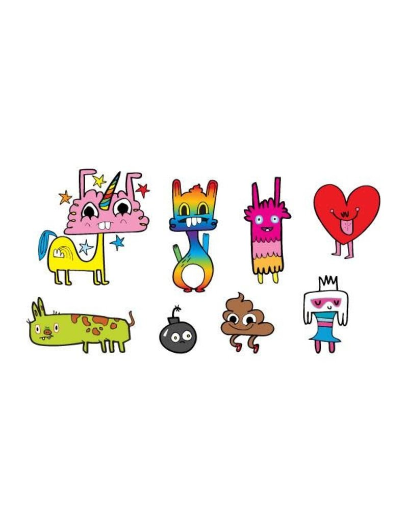 Tattly Happy Doodles Tattly Pack