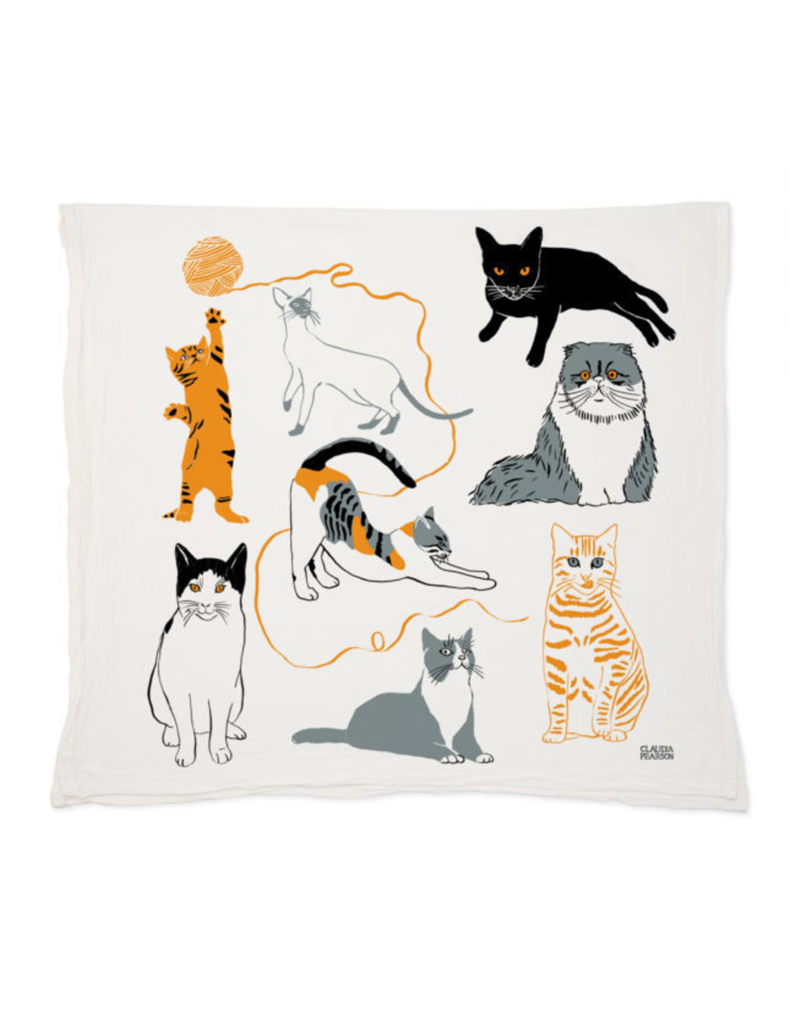 Claudia Pearson Cats Tea Towel