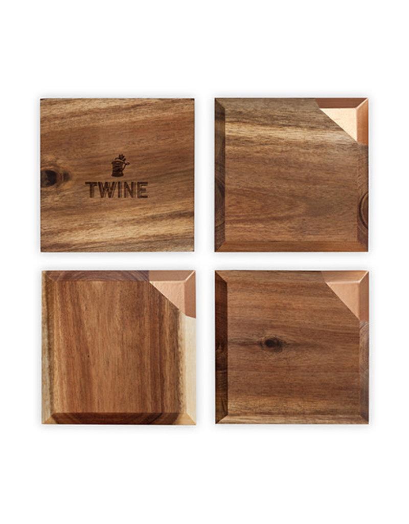 Twine Metallic Dipped Coasters