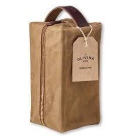 Olivina Men Waxed Canvas Travel Bag - Khaki