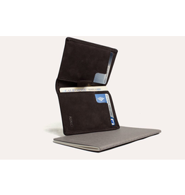 Kiko Leather Slim Bifold Wallet in Brown