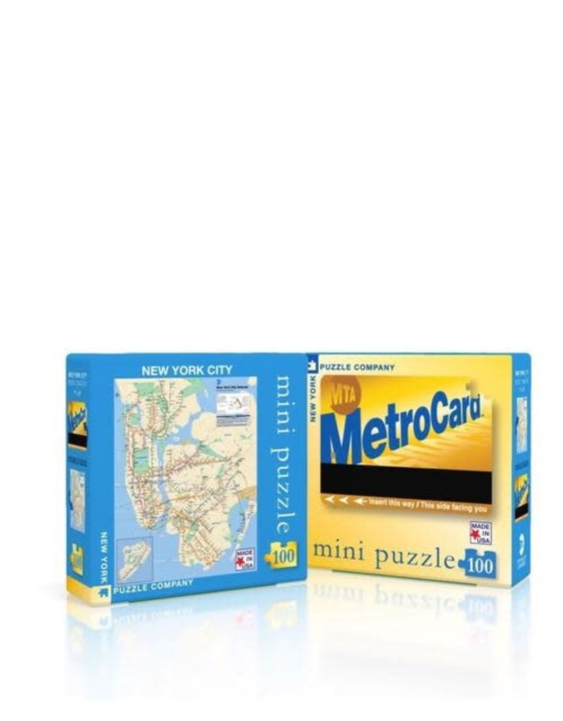 New York Puzzle Company MTA Subway Map Mini Puzzle