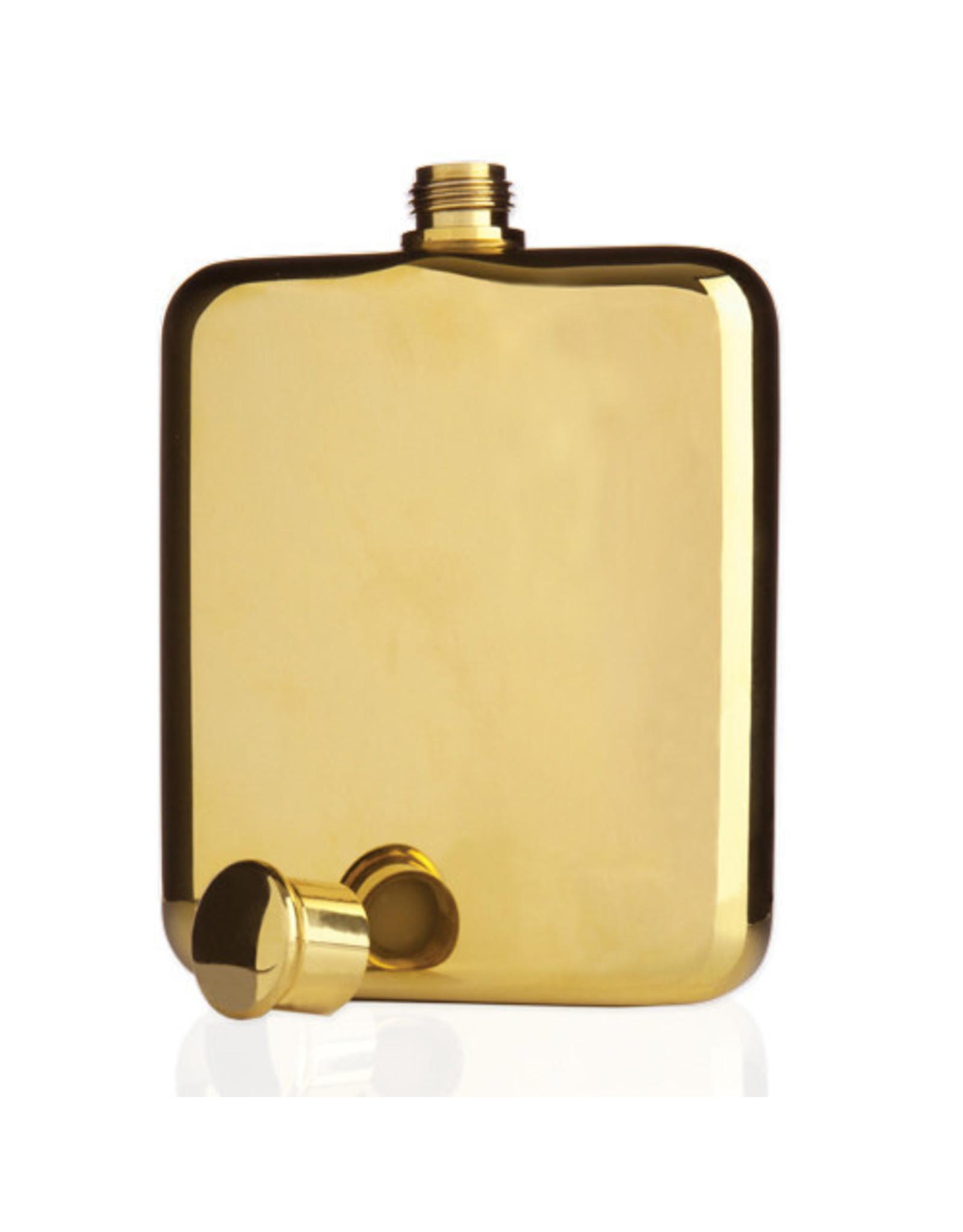 Viski Gold Plated Flask