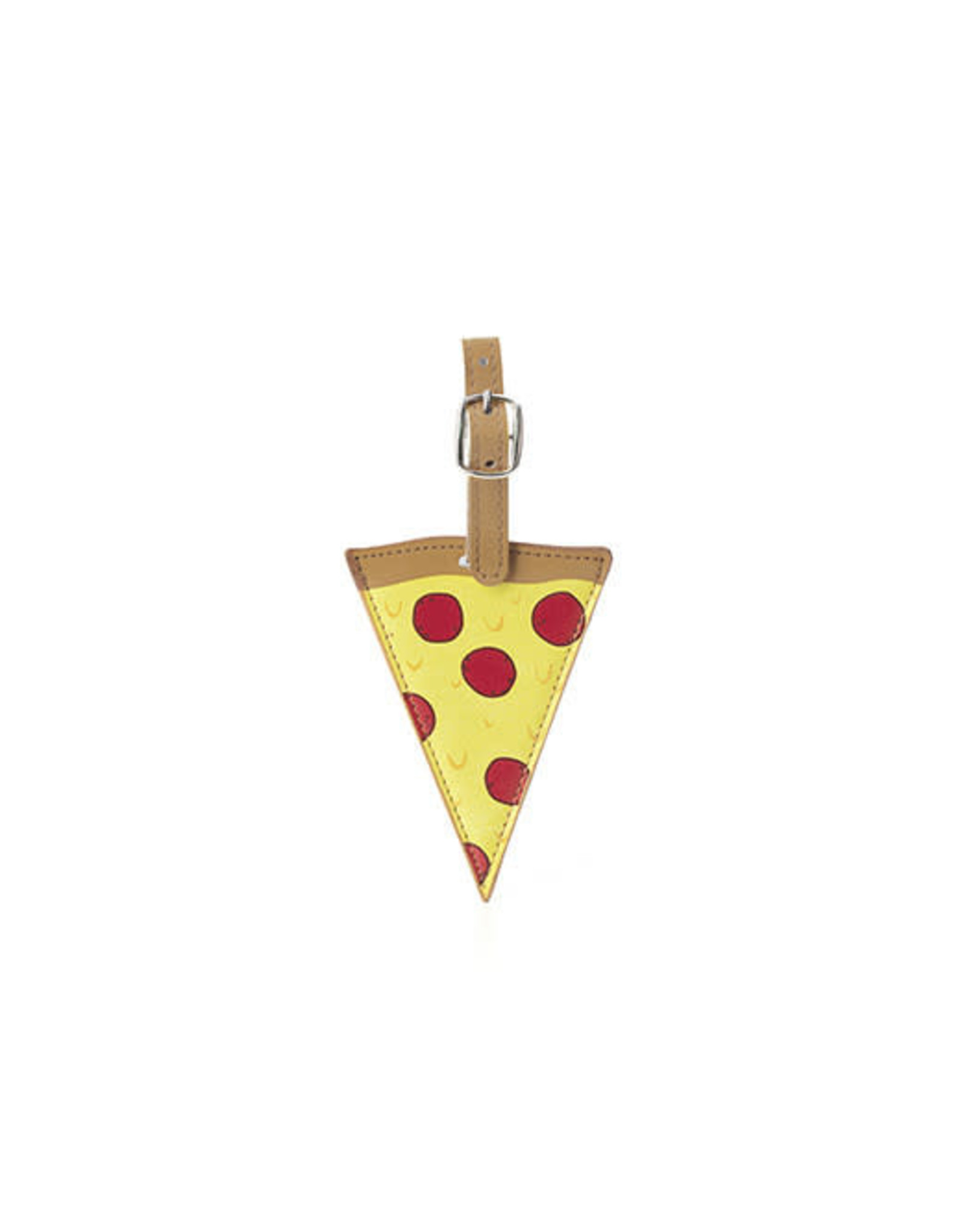 Kikkerland Pizza Luggage Tag