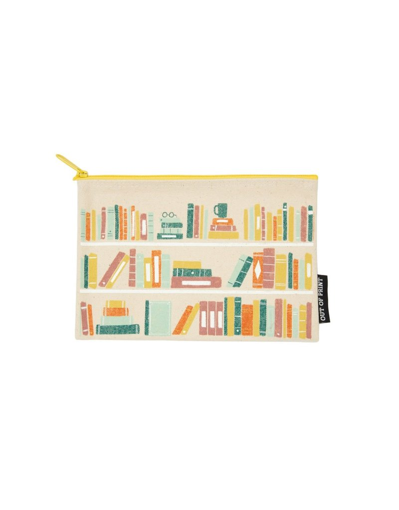 """Out Of Print """"Book Shelf"""" Pouch"""