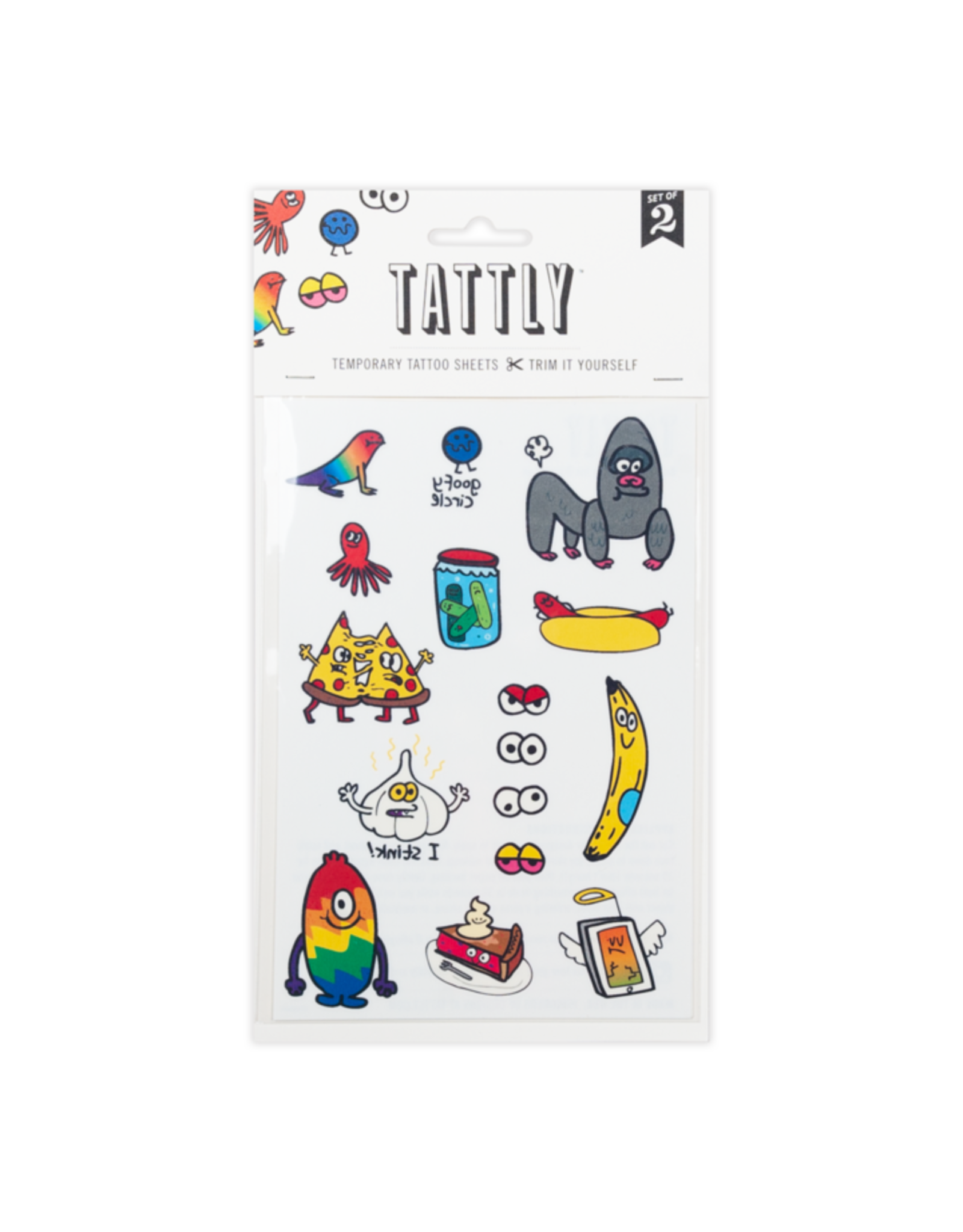 Tattly Goofy Doodles Tattly Sheet