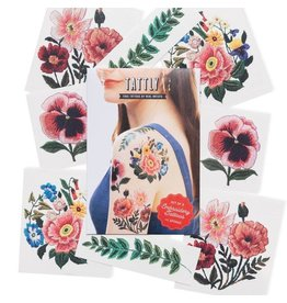 Tattly Embroidery Florasl Tattly Pack