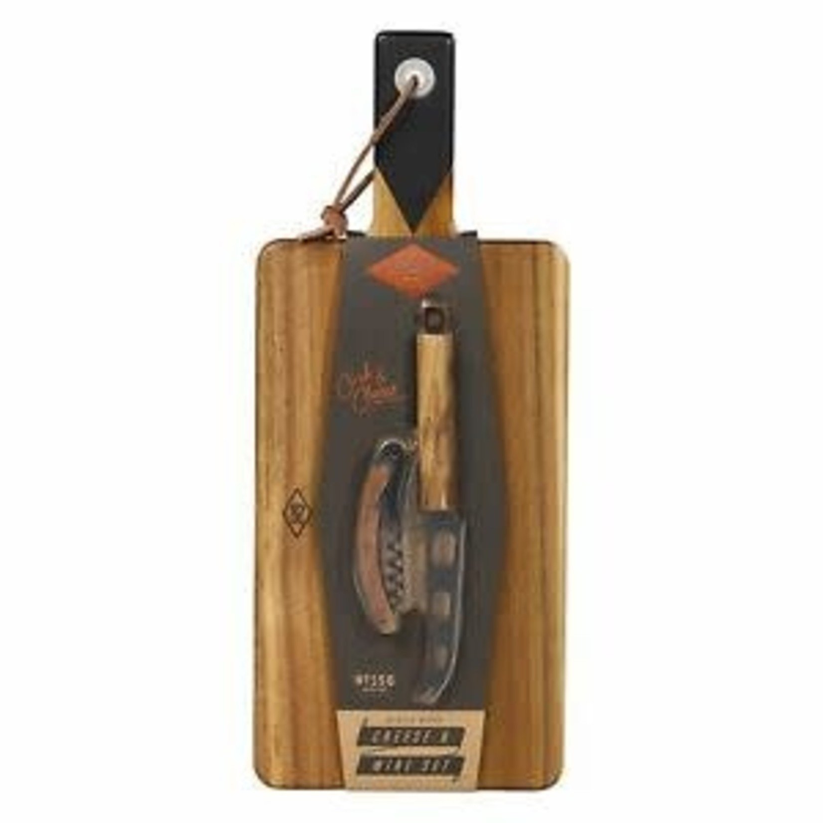 Gentleman's Hardware Cheese Board, Knife & Wine Opener Set