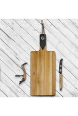 Gentleman's Hardware Cheese Board, Knife & Wine Opener Set