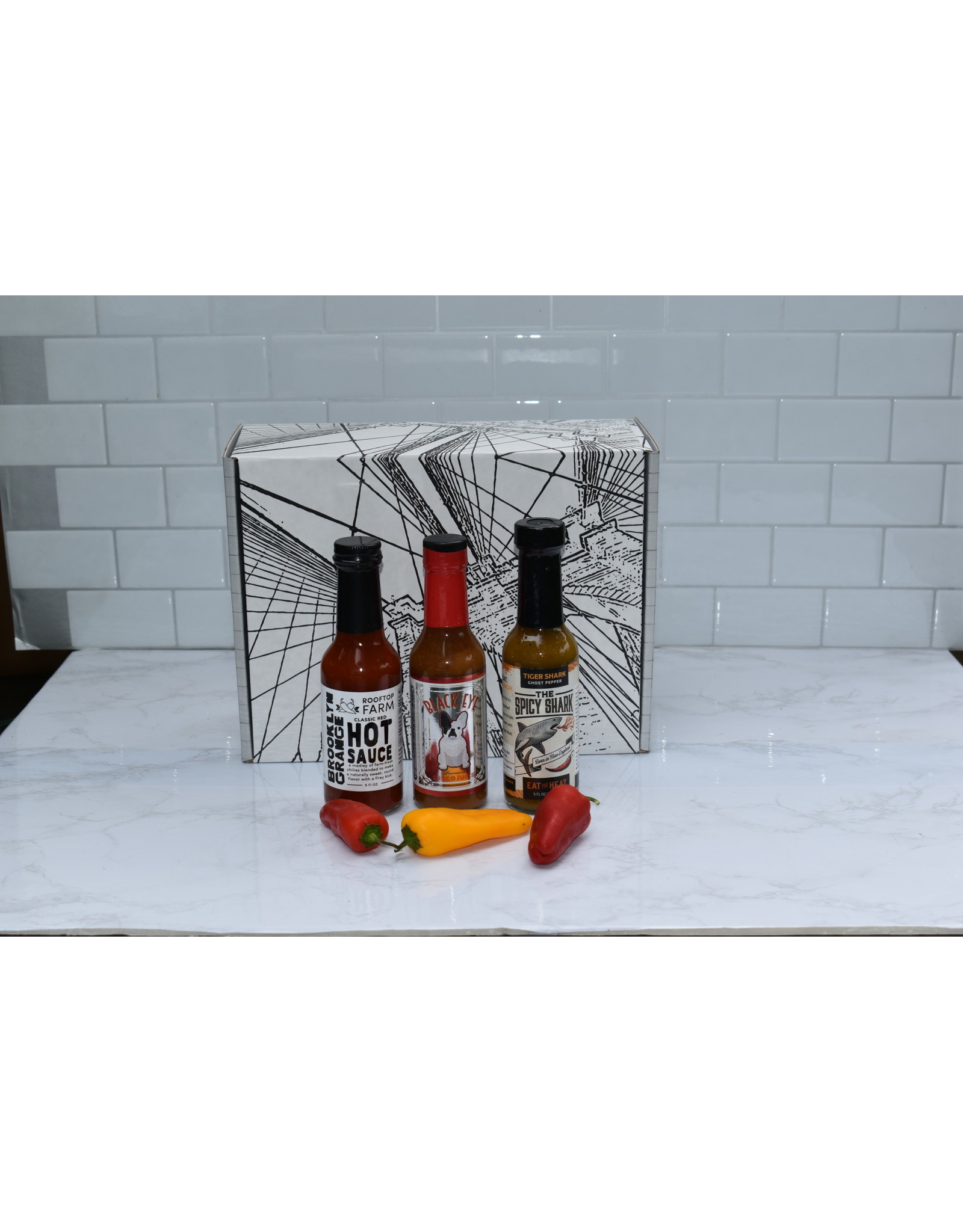 Exit9 Gift Emporium Hot Sauce Trio #2.  A giveback product!