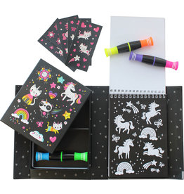 Tiger Tribe Unicorns & Friends Neon Coloring Set