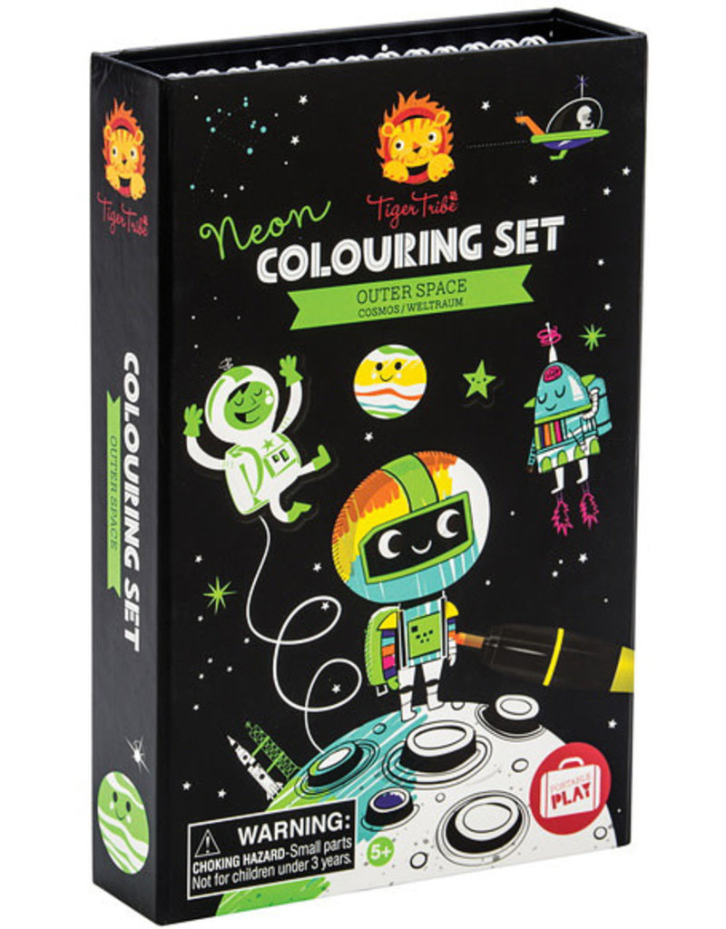 Tiger Tribe Outer Space Neon Coloring Set