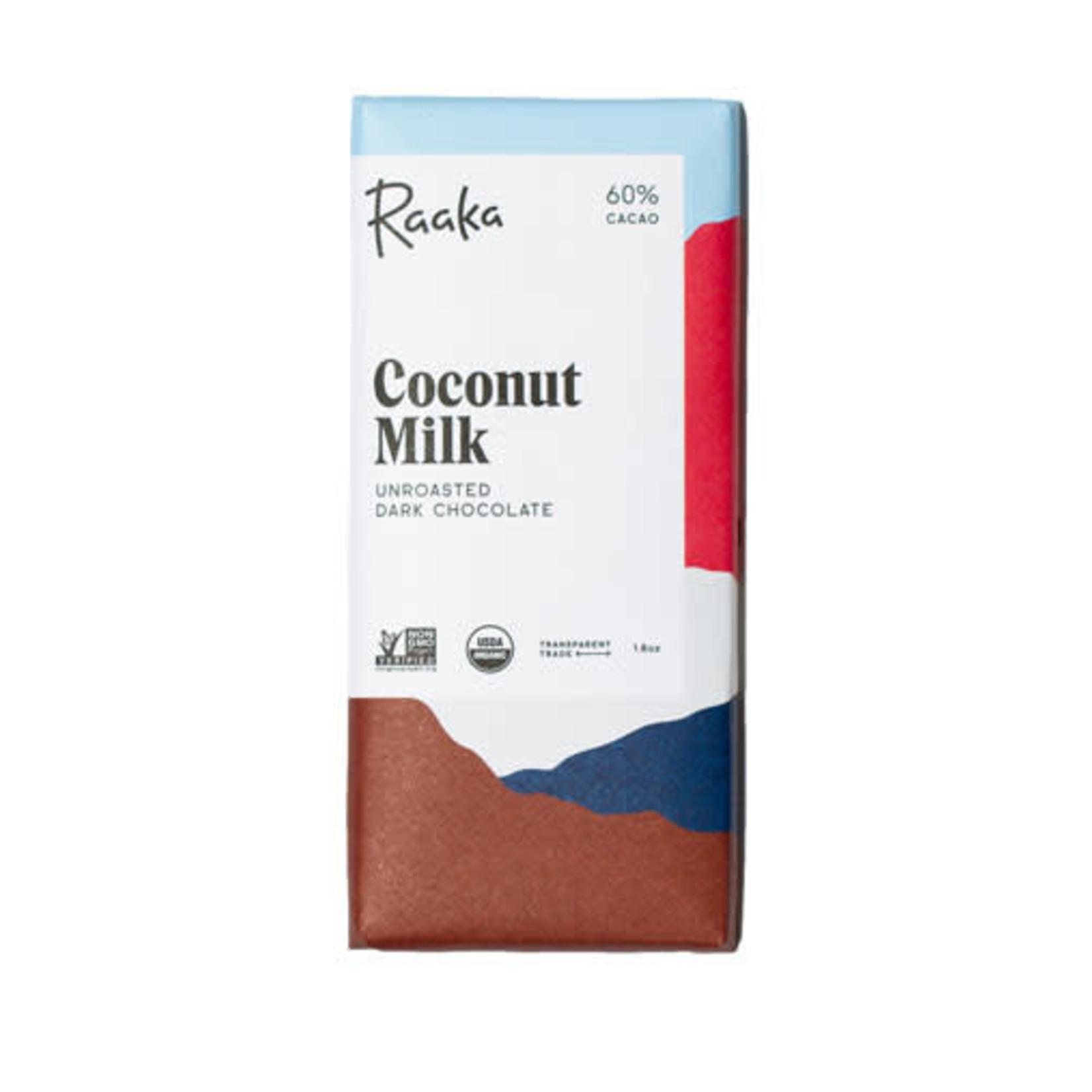 Raaka Coconut Milk Chocolate Bar