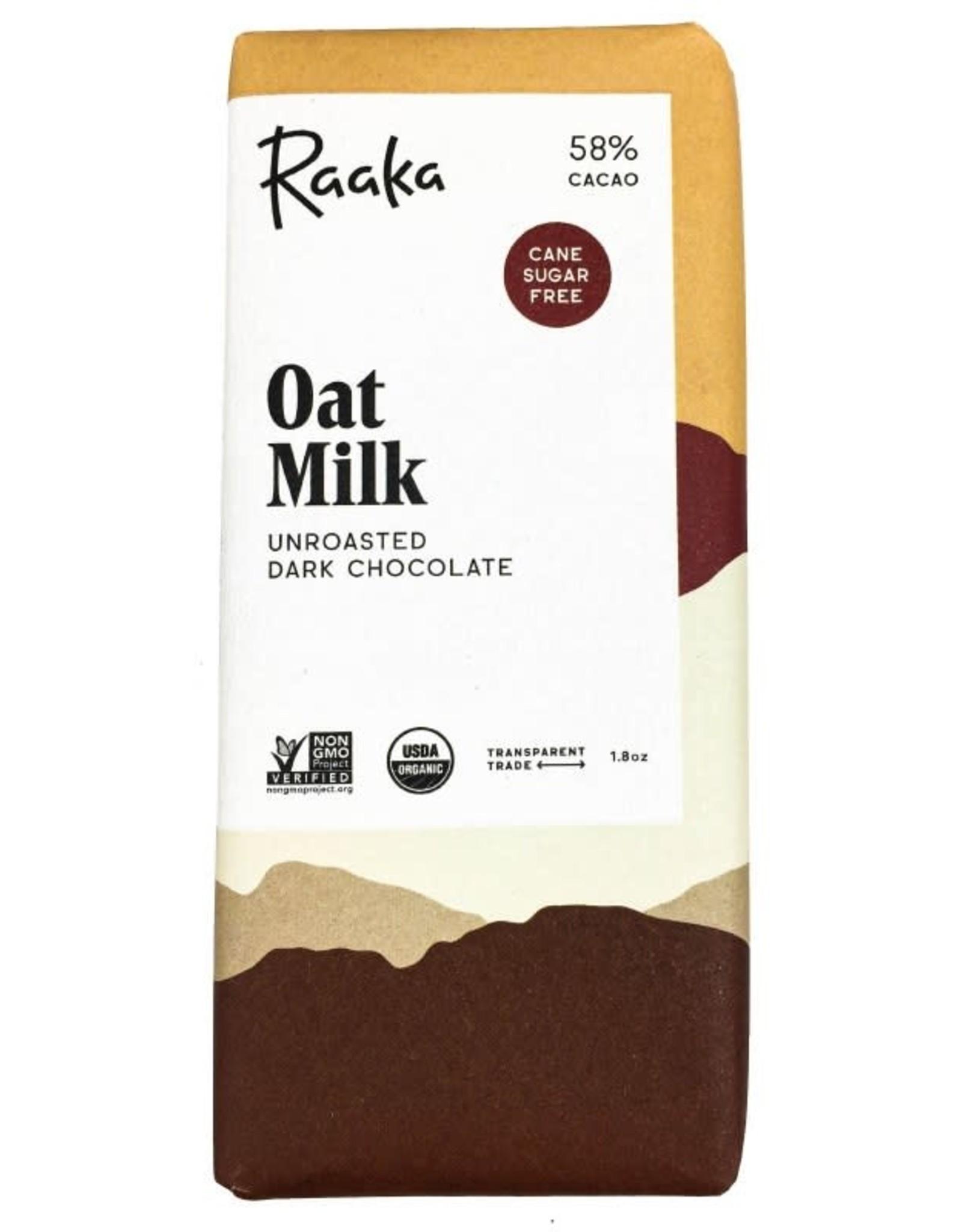 Raaka Oat Milk Chocolate Bar