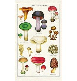 Cavallini Mushrooms Tea Towel