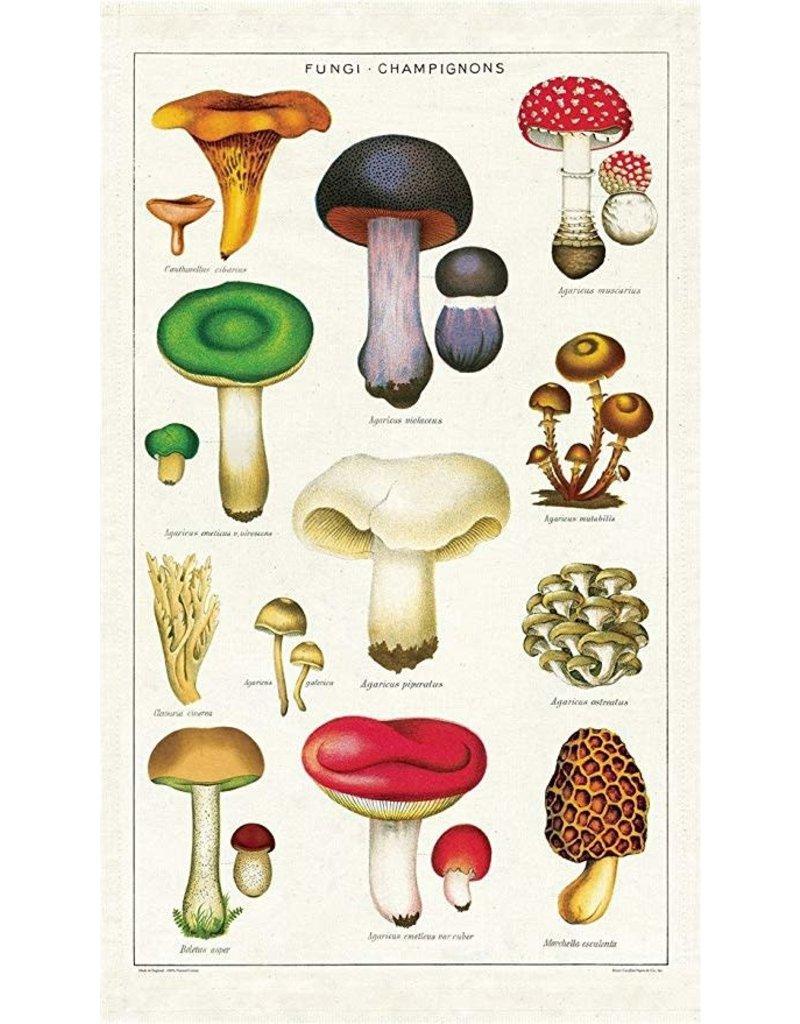 Cavallini Mushrooms Tea Towel