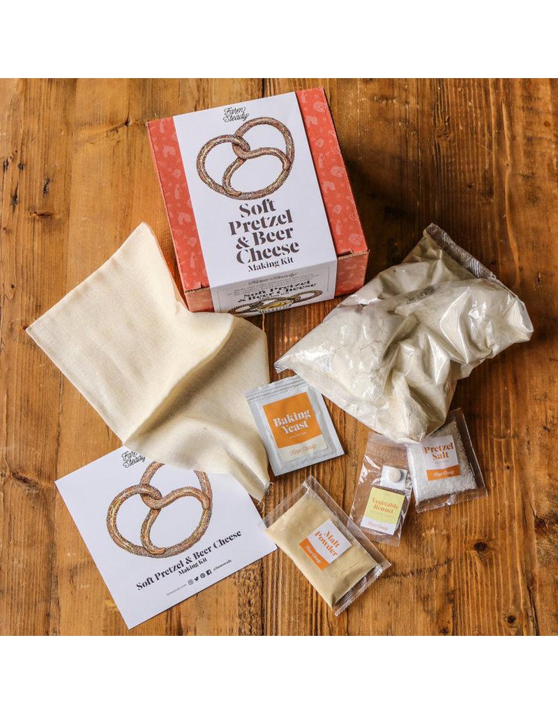 Farm Steady Soft Pretzel & Beer Cheese Kit
